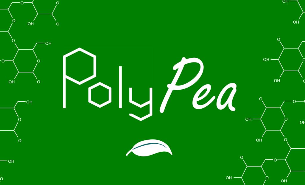 logo polypea bioplastique de pois